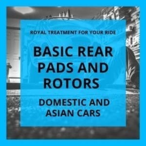 Basic Rear Pads and Rotors Domestic and Asian Cars