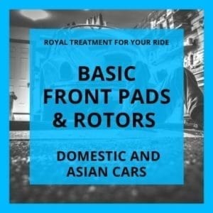 Basic front pads and rotors brake service ann arbor