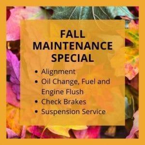 Fall Auto Maintenance Coupon Ann Arbor