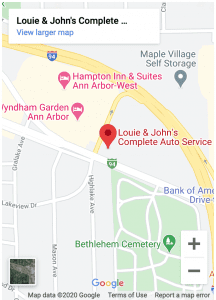 map to auto repair ann arbor